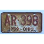 Americké spz Ohio historické 1959 pár