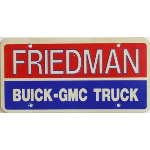 Americká reklamní SPZ prodejců automobilů FRIEDMAN