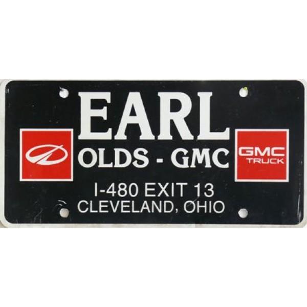 Americká reklamní SPZ prodejců automobilů EARL