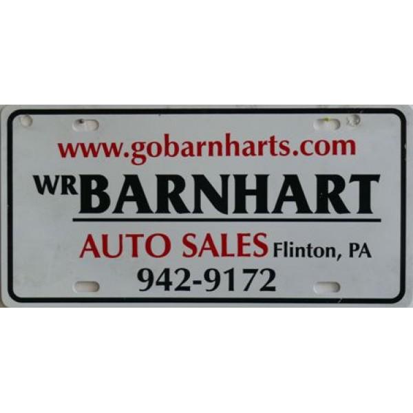 Americká reklamní SPZ prodejců automobilů BARNHART