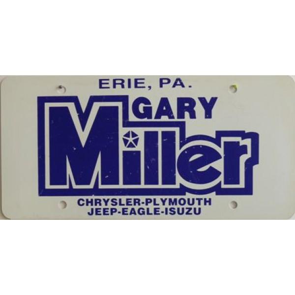 Americká reklamní SPZ prodejců automobilů GARY MILLER