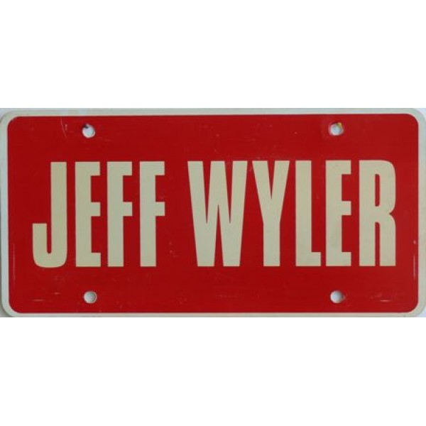 Americká reklamní SPZ prodejců automobilů JEFF WYLER