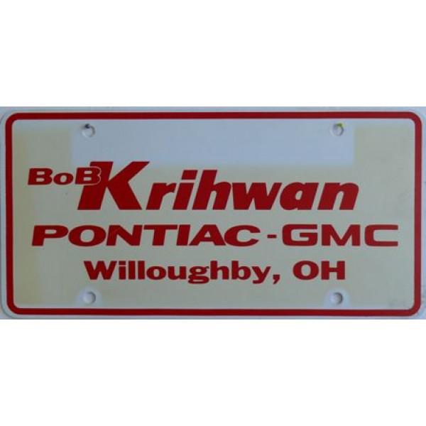 Americká reklamní SPZ prodejců automobilů KRIHWAN