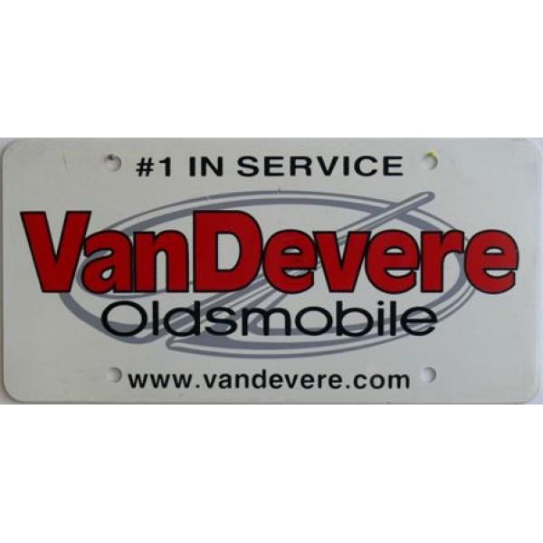 Americká reklamní SPZ prodejců automobilů VANDEVERE