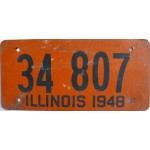 Americká historická spz Illinois ze sololitu pár 1948