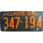 Americká historická spz Illinois ze sololitu pár 1945