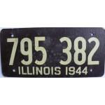 Americká historická spz Illinois ze sololitu pár 1944