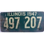 Americká historická spz Illinois ze sololitu pár 1947