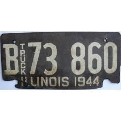 Americká historická spz Illinois ze sololitu truck 1944