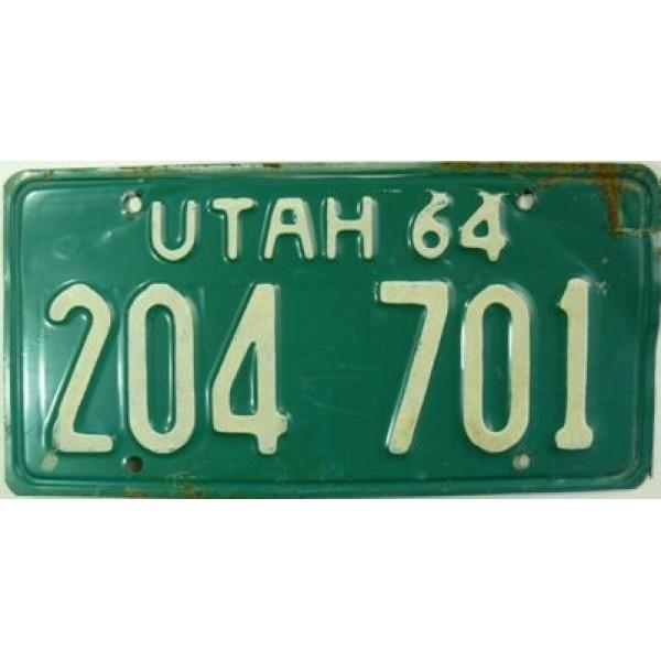 Americká spz Utah historická 1964