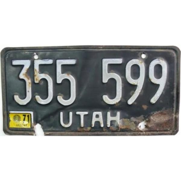 Americká spz Utah historická 1971