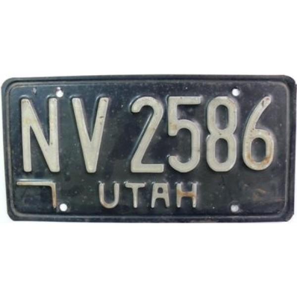Americká spz Utah historická