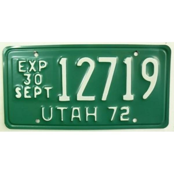 Americká spz Utah historická 1972