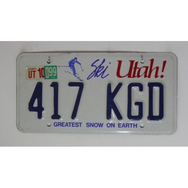 Americká spz Utah pár