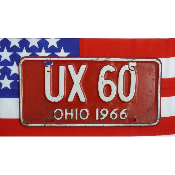 Americká SPZ Ohio Historická 1966