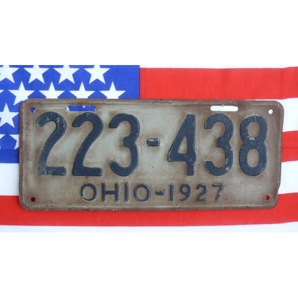 Americká spz  Ohio historická 1927