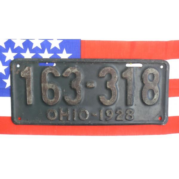 Americká spz  Ohio historická 1928