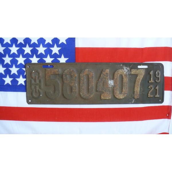 Americká spz  Ohio historická 1921