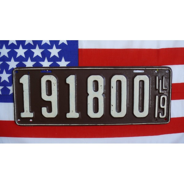 Americká historická spz Illinois 1919