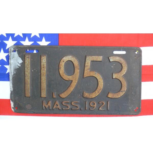 Americká spz Massachussetts historická 1921