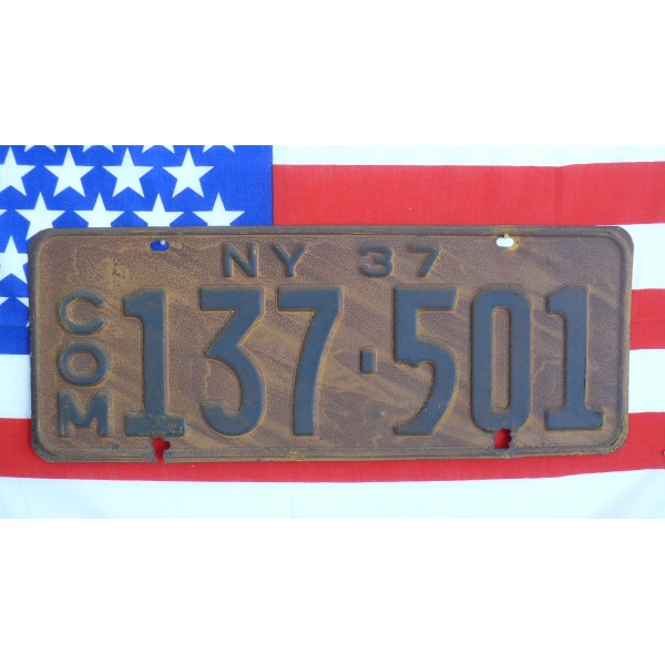 Americká SPZ New York historická 1937