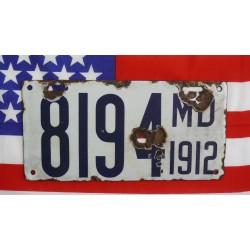 Americká SPZ Maryland 1912