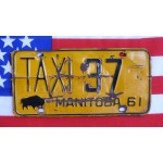 Kanadské spz pár TAXI Manitoba 37