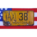 Kanadské spz pár TAXI Manitoba 38