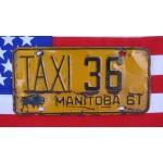 Kanadské spz pár TAXI Manitoba 36