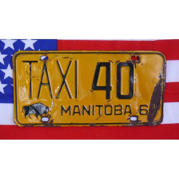 Kanadské spz pár TAXI Manitoba 40