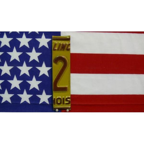 Části Amerických SPZ číslice 2