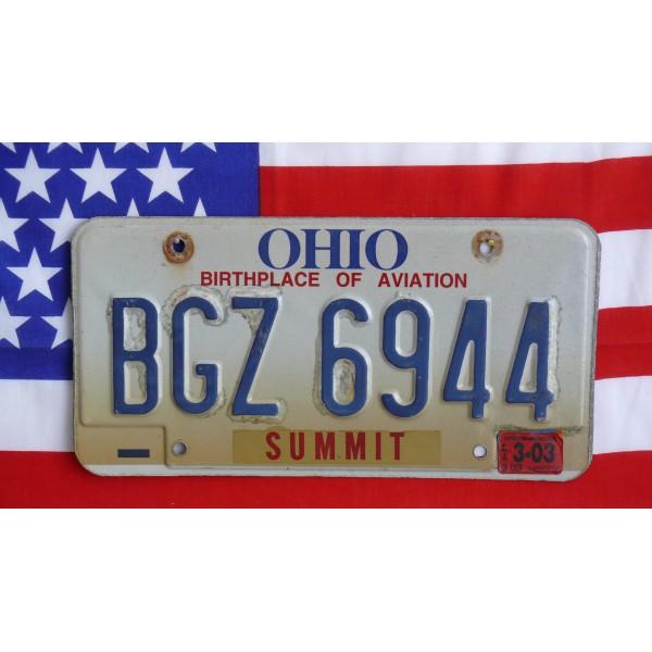 Americká SPZ Ohio