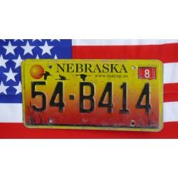 Americká spz Nebraska 54