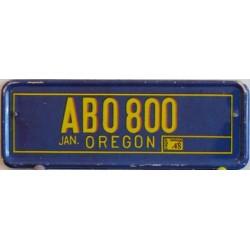 Mini americká SPZ Oregonu