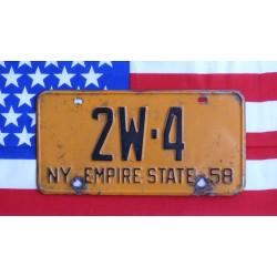 Americká SPZ New York historická 1958