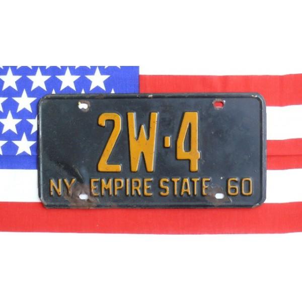 Americká SPZ New York historická 1960