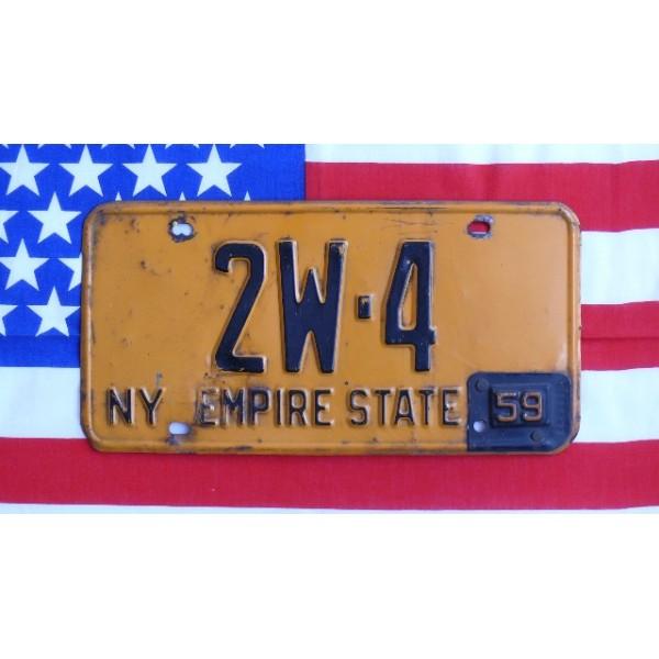 Americká SPZ New York historická 1959