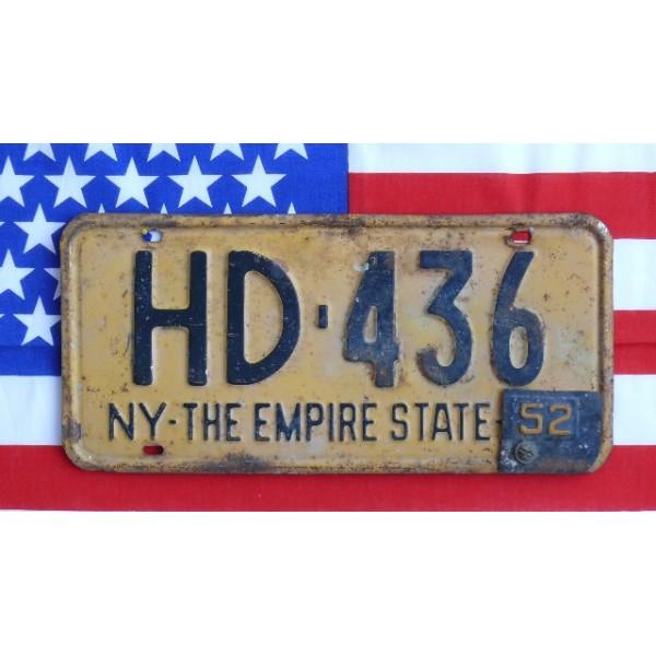 Americká SPZ New York historická HD 1952