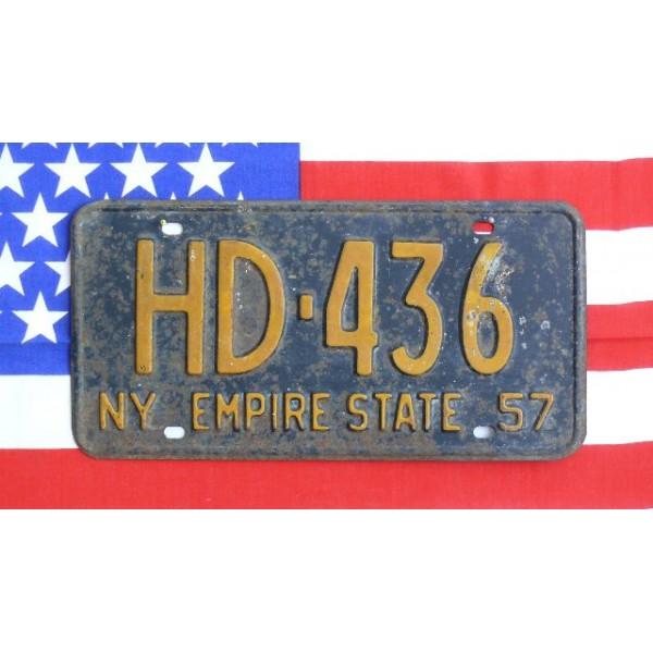 Americká SPZ New York historická HD2 1957
