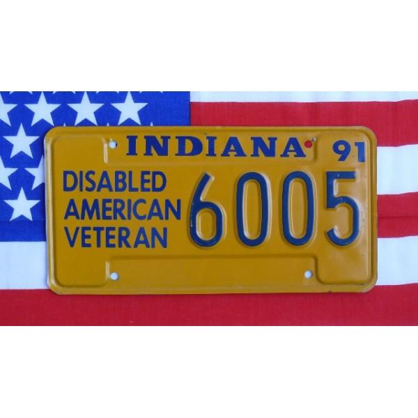 Americká SPZ Indiana Veterán