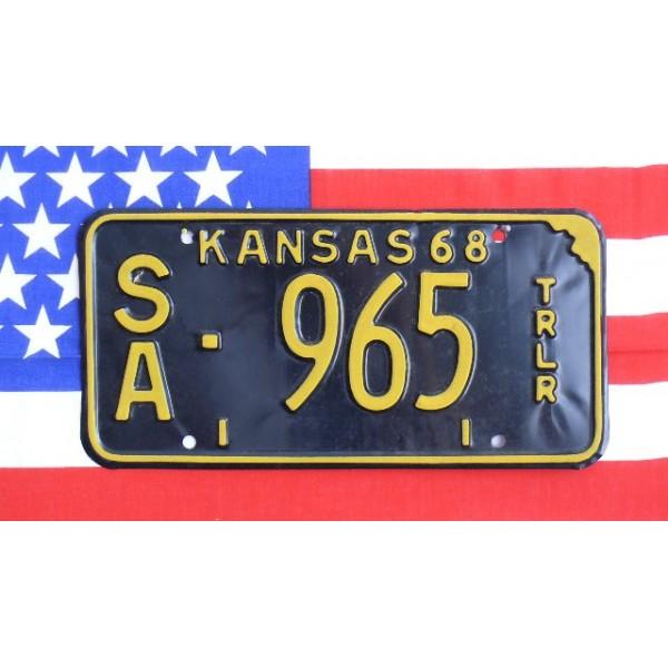 Americká SPZ Kansas 1968