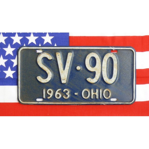 Americká SPZ Ohio Historická 1963