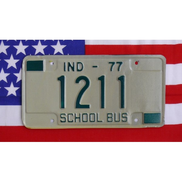 Americká SPZ Indiana Školní autobus