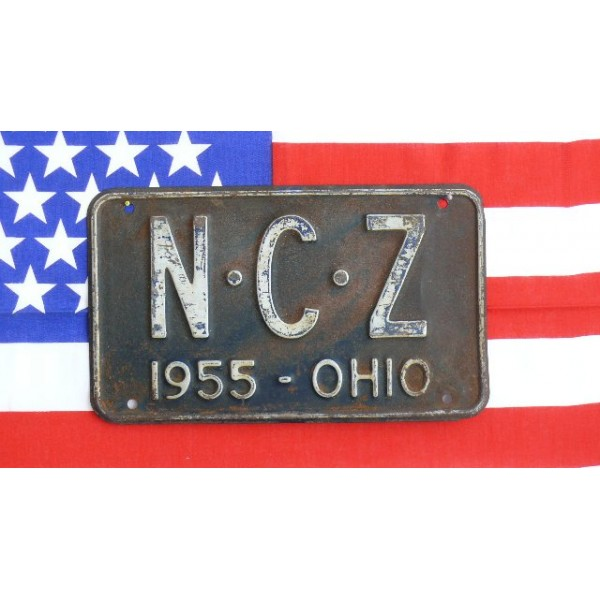 Americká SPZ Ohio Historická 1955