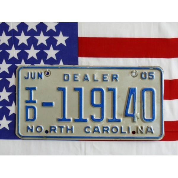 Americká SPZ North Carolina