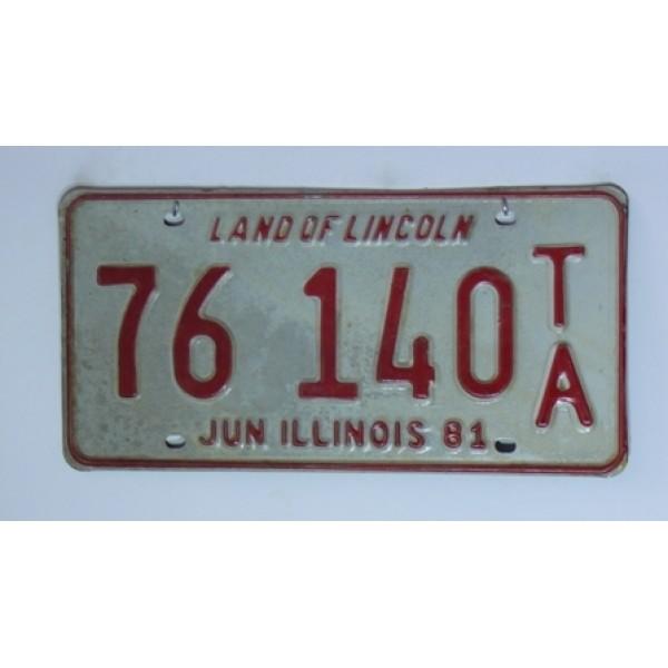 Americká SPZ Illinois