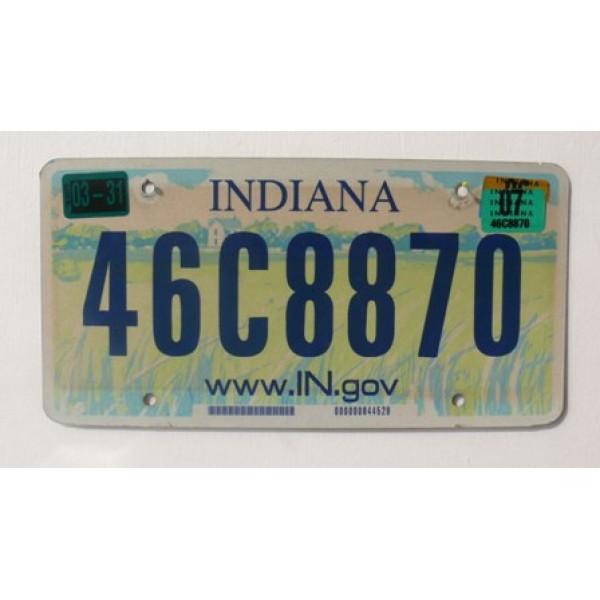 Americká spz Indiana