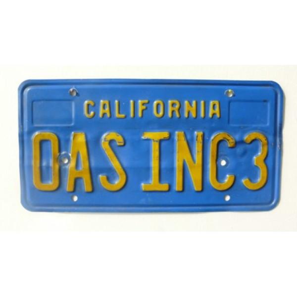 Americká SPZ California vanity