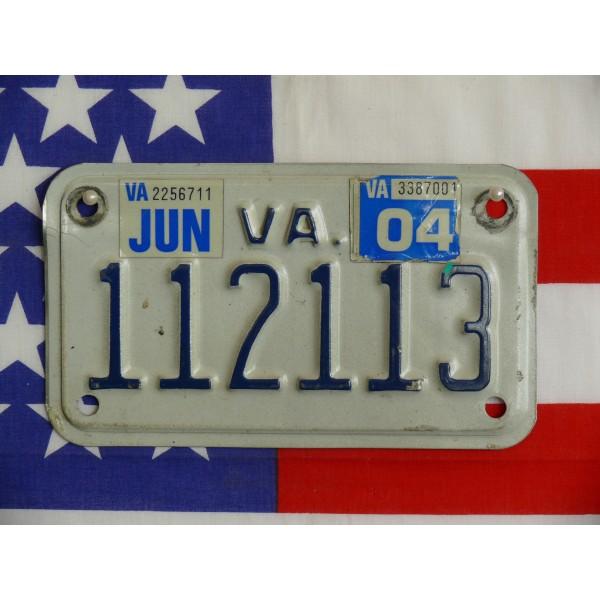 Americká Moto SPZ Virginia