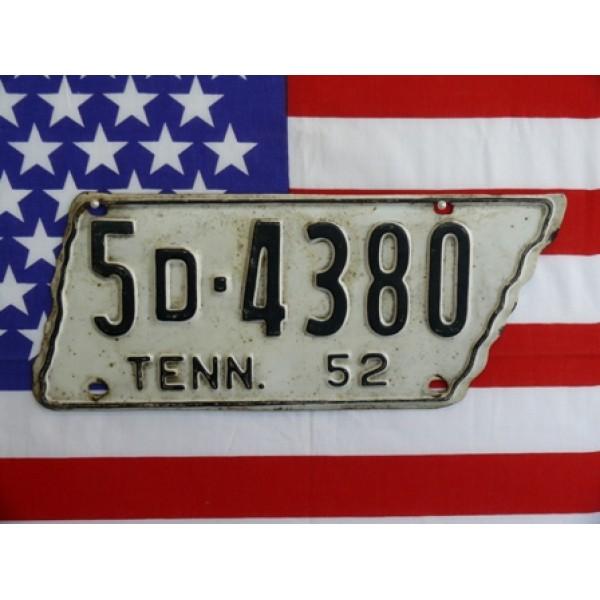 Americká SPZ Tennessee 1952
